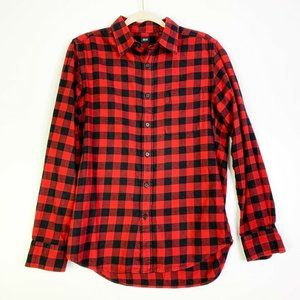 Uniqlo Mens Checked Long Sleeve Button Up Shirt S